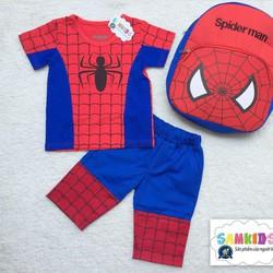 Bộ Spiderman kèm TẶNG ba lô cho bé đến trường
