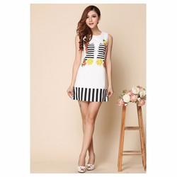 Đầm suông viền họa tiết xinh xắn - Shop Bé Điệu