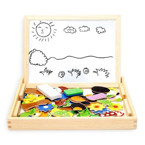 Bộ bảng vẽ và ghép hình nam châm cho bé bằng gỗ hơn 100 món - 12912440 , 7963025 , 15_7963025 , 135000 , Bo-bang-ve-va-ghep-hinh-nam-cham-cho-be-bang-go-hon-100-mon-15_7963025 , sendo.vn , Bộ bảng vẽ và ghép hình nam châm cho bé bằng gỗ hơn 100 món
