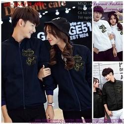 Áo khoác cặp đôi logo hình rồng sành điệu năng động cAKC179