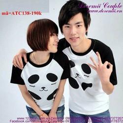 Áo thun cặp tình nhân gấu Panda cực dễ thương