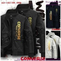 Áo khoác cặp đôi logo Conver phong cách sành điệu cAKC180