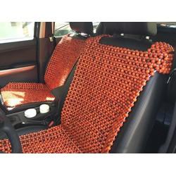 lót ghế ô tô hạt gỗ tròn