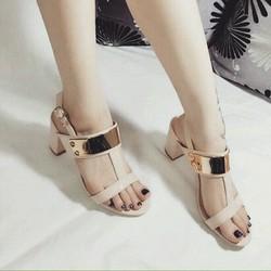 giày sandal nữ 3 quai bảng ngang