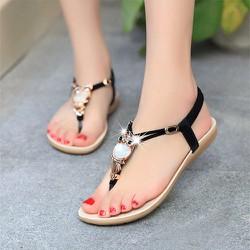 Giày Sandal đế bằng nữ cú mèo xinh xắn - LN422