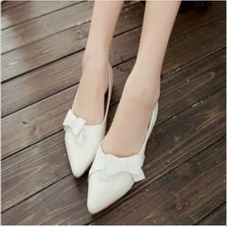 giày búp bê tiểu thư nơ xéo xinh xắn