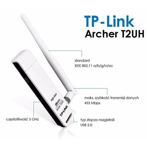 TP-LINK ARCHER T2UH - USB THU WIFI BĂNG TẦN KÉP.