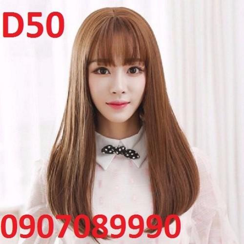 Tóc giả có da đầu kèm lưới - D50