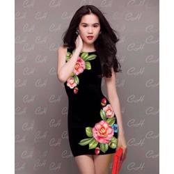 Đầm Body Ngọc Trinh Hoa 3D D2140