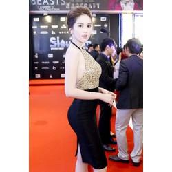 Đầm ôm body kiểu hở lưng thiết kế dự tiệc tuyệt đẹp như Ngọc Trinh