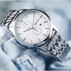 Đồng hồ nam dây inox CURREN cao cấp mã DHCR001