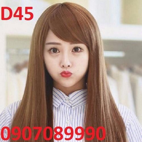 Tóc giả Hàn Quốc da đầu kèm lưới - D45