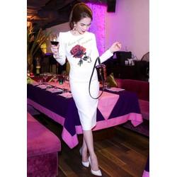 Đầm ôm body kiểu tay dài dự tiệc sang trọng như Ngọc Trinh