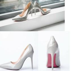 Giày cao gót Louboutin 10cm da trơn