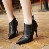 Giày Boot nữ da đắp xéo cao cấp - LN421