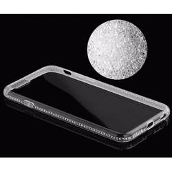 Ốp lưng silicon dẻo trong suốt viền đính đá pha lê cho Iphone