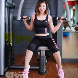 Bộ tập gym sọc kẻ