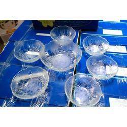 Bộ 7 món thủy tinh indonesia cao cấp quà tặng Vinamilk