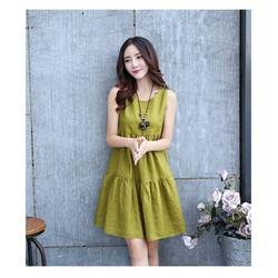 Đầm linen thời trang Hàn Quốc trẻ trung năng động