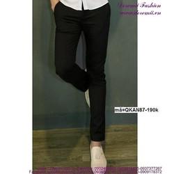 Quần kaki nam phong cách đơn giản sang trọng