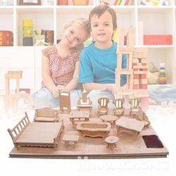 Bộ đồ chơi ghép gỗ nội thất 34 món