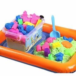 Bộ đồ chơi cát động lực, cát vi sinh nặn đất sét cho bé yêu
