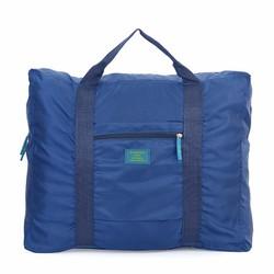 Túi đựng đồ du lịch loại lớn chống thấm xếp gọn - xanh đen...