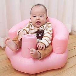 Ghế hơi bơm tự động tập ngồi tâp ăn tiện cho bé
