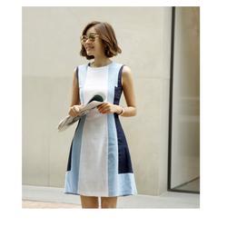 Hàng Nhập -Đầm thời trang phối màu trẻ trung