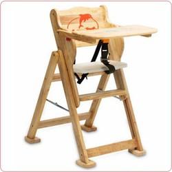 Ghế ăn dặm trẻ em bằng gỗ IQ Toys