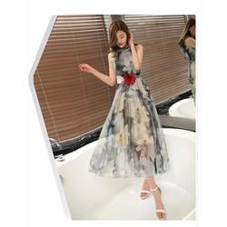Đầm Maxi Cổ Yếm - Giá Cực Sốc