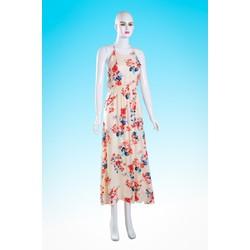 Đầm maxi hoa đi chơi xinh xắn - HN09