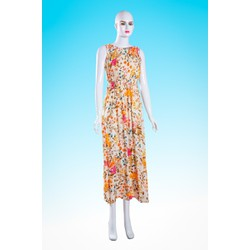 Đầm maxi hoa đi biển xinh xắn - HN08