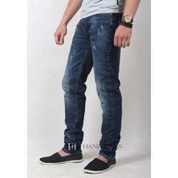 Quần jeans nam co giãn,xanh tối màu,mài xước nhẹ 16J755