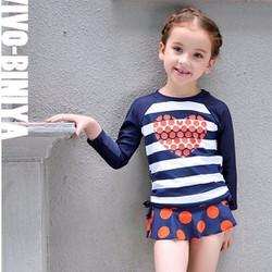 Bộ bơi cho bé dài tay kẻ từ 1 đến 14 tuổi