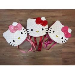 Balo Hello Kitty nhỏ xinh da bóng