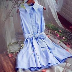Đầm kẻ xanh thiết kế Korea,cao cấp
