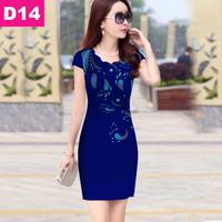 Đầm đẹp họa tiết in 3D