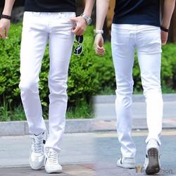 Quần Jeans trắng nam đep