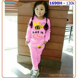 Bộ dài tay thêu nàng ong chăm chỉ  Let it Bee