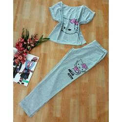 Ruby Shop 0110_ Chuyên sỉ lẻ_  Set bộ kitty xám so xinh