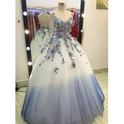 áo cưới lam xanh cực xinh hàng có sẵn