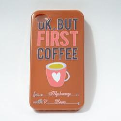 Ốp lưng điện thoại iphone 4, 4s hình coffee