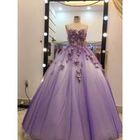 áo cưới tím hoa lam