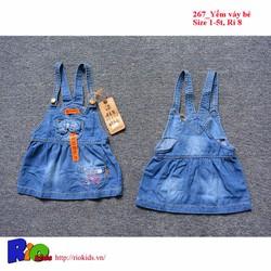 Váy yếm jean cho bé gái từ 1 đến 5 tuổi