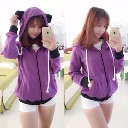 Áo khoác tai gấu dễ thương