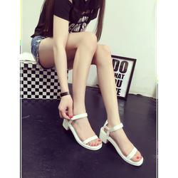 Giày sandal nữ đẹp dây mảnh đế nhựa trẻ trung màu trắng