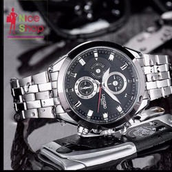 Đồng hồ nam Longbo dây thép thể thao
