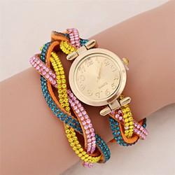 Đồng hồ nữ ĐÍNH ĐÁ thời trang dễ thương loại mới kiêm lắc tay HOT HOT