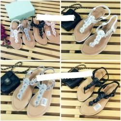 giày sandal quai T hoa